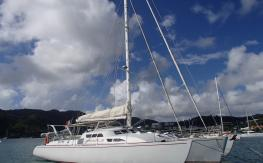 Waarship Trimaran de croisière : At anchor in Martinique
